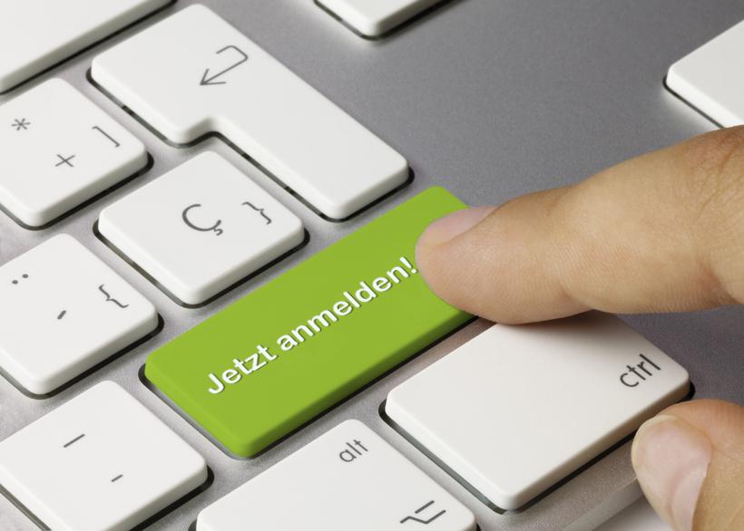 Jetzt anmelden Tastatur